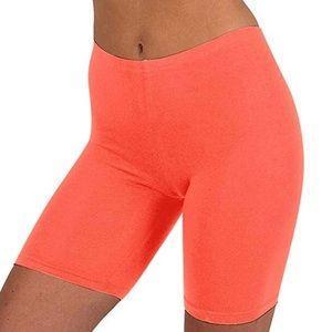 Pants - Bike Shorts neon orange